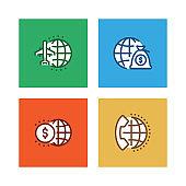 GLOBAL BUSINESS LINE ICON SET