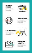 NETWORK TECHNOLOGY AND LINE ICON CONCEPT