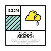 CLOUD SEARCH ICON CONCEPT