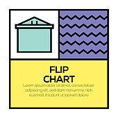 FLIP CHART ICON CONCEPT