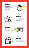 MONEY LINE ICON CONCEPT