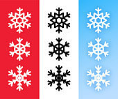 Snowflake icon set for Christmas holiday decoration