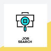 JOB SEARCH LINE ICON SET