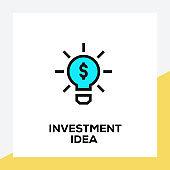 INVESTMENT IDEA LINE ICON SET