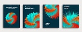 Multi-colored book cover page design, creative abstract background.