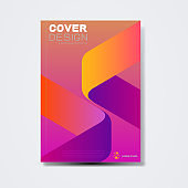 Cover template, brochure template layout, book cover, annual report, magazine or booklet  with arrow symbol  on white background for technology concept or corporate business in A4 size, vector illustration
