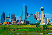 Dallas Texas Downtown Skyline Cityscape Perfect Afternoon Sunny day 2019