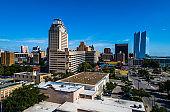 San Antonio Texas Skyline Cityscape under blue skies