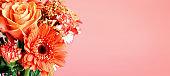 Beautiful Gerbera Daisy in a Bouquet of Like Colored Flowers