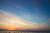 Picturesque sunrise on the sea