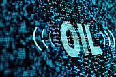 technology concept of oil