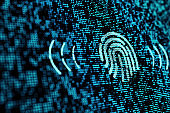 technology concept of finger