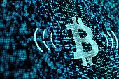 technology concept of bitcoin