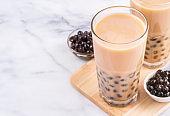 Bubble milk tea with tapioca