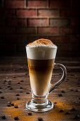 Latte coffee with cinnamon / Food and Drink concept (Click for more)