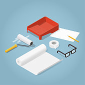 Isometric Home Renovation Illustration