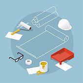 Home Renovation Concept Illustration