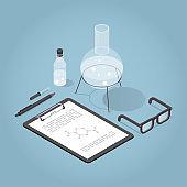Isometric Chemical Laboratory Illustration