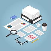 Isometric Business Plan Illustration