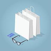 Isometric Shopping Concept Illustration