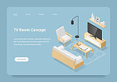 Isometric TV Room Concept