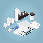 Isometric Bill Payment Illustration