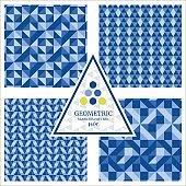 Triangular Geometric Seamless Pattern Collection