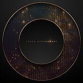black and gold circle background