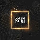 Modern luxury gold template background