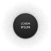 black circle shape template on white background