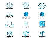 Set of Law Firm Logo Template Design Vector