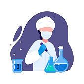 Laboratory Worker Profession Concept