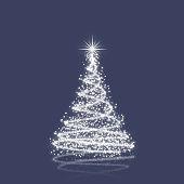 Elegant christmas tree with stars