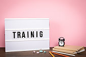 Training. Education, skills, courses and careers concept