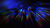 Neon Colorful Beams Bokeh Black Background Abstract Blur Motion Speed Colorful Rainbow Lines
