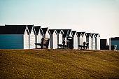 Beach Huts In Worthing, United Kingdom