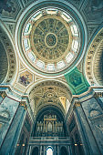 Inside view of St. Stephen Basilica in Budapest