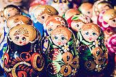 Matryosha Russian Toys On Display