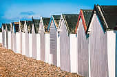 Small And Cute Beach Huts In Worthing, United Kingdom
