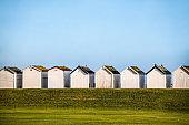 Goring Beach Huts In Worthing, United Kingdom