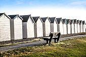 Idyllic Beach Huts In Worthing, United Kingdom