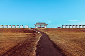 Beach Huts In Worthing, Sussex, United Kingdom