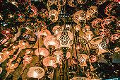 Lights Shining Through Lanterns In Istanbul, Turkey