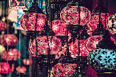 Beautiful Lights In Old Bazaar In Istanbul, Turkey
