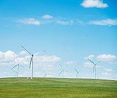 Wind power generation in grassland