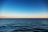 Deep sea sunset for background
