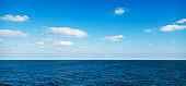 The deep blue sea for background