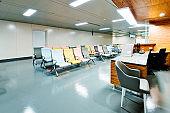 Empty seats in hospital nurses station