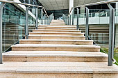 Staircase of modern office building