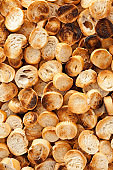 Sliced toasted bread background